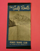 Mexican Vintage Pemex Travel Club The Gulf Route 1959 Edition
