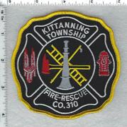 Kittanning Township Fire Rescue Company 310 Pennsylvania Shoulder Patch