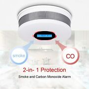 Wide Coverage For Full Home Protection - Fire Smoke And Co 2-in-1 Detector Alarm