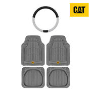 Heavy Duty All Weather Universal Front/rear Floor Mats 4pc+steering Wheel Cover