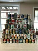 Beer Can Collection Pull Tabs And Push Tabs. Most Are Bottom Opened. 528 Cans.andnbsp