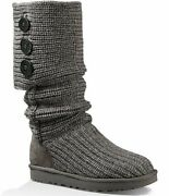 Ugg Classic Cardy Button Detailed Knit Boots Size 7