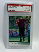 2001 Tiger Woods Upper Deck Rookie Rc Card 1 Psa 10 Gem Mt 22474178andnbsp🔥📈
