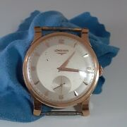 Longines Classic Head Only 36 Mm Yellow Gold Manual Watch 6693-1 Circa 1960