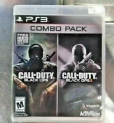 Call Of Duty Black Ops 1 And 2 Combo Pack Sony Playstation 3 2015 Cib