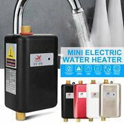 Electric Instant Hot Tankless Water Heater Shower Kitchen Tap Faucet 3800w 110v