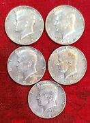 40 Silver Kennedy Half Dollars - 1965 To 1969 - 5 Coins