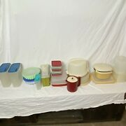 Vintage Tupperware Containers Lot 43 Pieces Including Lids Free Shipping Usa