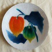 Vintage Ando Cloisonne Plate Bell Peppers