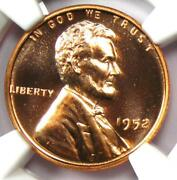 1952 Proof Lincoln Wheat Cent Penny 1c Coin - Ngc Pr68 Rd Pf68 - 1,500 Value