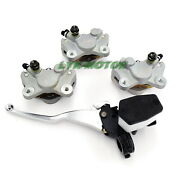 Front Andrear Brake Calipers Andbrake Master Cylinder For Arctic Cat 400 500 2x4 4x4