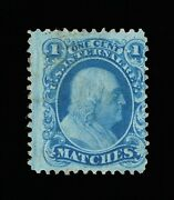Outstanding Genuine Scott Ro132a Private Die Matches On Old Paper 13857