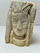 Debbi Saccomanno Chan Relief Carving On Organic Bone The Nation 1 1/2 X 2 Inch