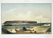 Helgoland General View Original Coloured Lithography Heuer 1870