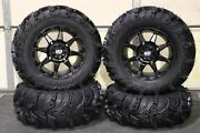 Can Am Renegade 1000 27 Mud Lite Ii 14 Hd6 Black Atv Tire And Wheel Kit Can1ca
