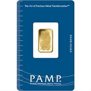 2.5 Gram G Pamp Suisse Lady Fortuna Carded Fine Gold Bar Bullion Investment