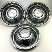 Chevy Hubcaps Chevrolet Motor Division Wheels Vintage 1969 Lot Of 3