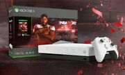 Xbox One X Console Hyper Space Nba 2k20 Edition White W/ Spots Brand New Sealed