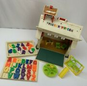 Vintage Fisher Price Little People School House Toy Play Set