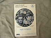 1972 New Mexico State Football Media Guide Yearbook Joe Pisarcik College Ad