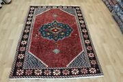 Old Wool Hand Made Persian Oriental Floral Runner Area Rug Carpet 200 X 130 Cm