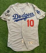 Justin Turner Los Angeles Dodgers Game Used Worn Jersey Mlb Auth 2019
