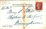 Gb Hants Cover Wykehamist Meeting Printed E Winchester College 1865 63.12