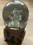 """Snowbabies Dept 56 """"catch Me If You Can"""" Snow Globe Baby Carriage And Butterfly"""