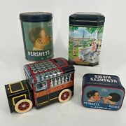 Lot Of 4 - Hershey's Chocolate Decorative Collectible Tins