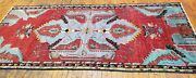 Late 1900and039s Antique Teal Blue Wool Pile Nagorno-karabakh Armenian Rug 4and039x8and0399