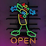 Neon Signs Gift Rolled Sandwich Open Restaurant Home Room Wall Display 19x15