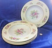 4 Beautiful Mint Vintage Rose China Made In Occupied Japan Soup/salad Bowls