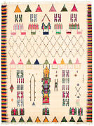 Hand-knotted Carpet 7and03910 X 10and0394 Moroccan Transitional Tribal Wool Rug