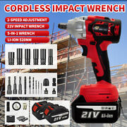 1/2and039and039 800nm Electric Cordless Impact Wrench Gun Brushless Drill W/ Battery+case