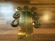 Vintage Brass Door Plates And Horse Brasses
