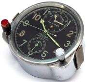 Swiss 8-day Cockpit Clock Jaeger Lecoultre, 1941-made For Soviet Airforce