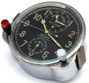 Swiss 8-day Cockpit Clock Jaeger Lecoultre 1941-made For Soviet Airforce