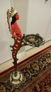Antique Cigar Store Indian Statue Sculpture Cast Iron Ashtray Smoking Stand