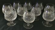 Qty 10 Waterford Crystal Alana. Pattern. 5andrdquo Tall Brandy Snifter Glasses. Vtg