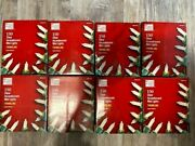 8 Boxes Home Accents 150 Clear Incandescent Mini Lights Twinkling New