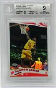 2005-06 Topps Chrome Refractor Lebron James Card 102 Serial Numbered /999 Goat