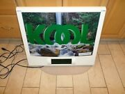Vintage Kool Cigarettes Advertising Waterfall Motion Sign With Digital Clock