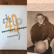 Ucla 1949 College Yearbook John Wooden First Year Bruins Basketball Southern
