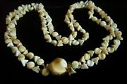 Very Rare - Collectible Vintage West Germany Double Strand Art Bead Necklace