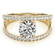 14k Yellow Gold 0.90 Ct Real Diamond Solitaire Engagement Wedding Ring 5 6 7 8