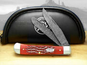 Case Xx Yellowhorse Trapper Knife Jigged Red Bone Native Steel Pocket Knives