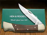 Hen And Rooster Natural Wood Lockback Hunter 6011nw Stainless Pocket Knife