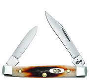 Case Xx Pen Knife Genuine Red Stag Handle Stainless Pocket Knives 09581