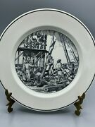 Rare Lamberton Scammell Historical Porcelain Building The Palisade Plate