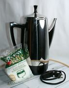 Presto 0281105 12 Cup Stainless Steel Percolator Electric Coffee Pot W/filters